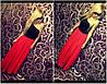 Платье в пол на одно плечо трикотаж масло