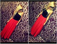 Платье в пол на одно плечо трикотаж масло, фото 1