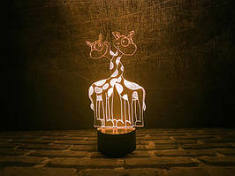 """3D Светильник """"Влюбленные жирафики"""""""