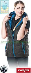 Жилетка зимова чорна жіноча Reis Польща (безрукавка робоча) BUTTERFLY B