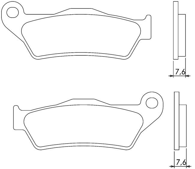 Практичні (синтетичні) гальмівні колодки BRENTA 4027 для мотоциклів