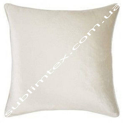Подушка плюшевая, натуральный наполнитель, для сублимации, размер 45х45см, фото 2