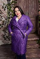 Стеганное пальто для пышных женщин, с 48-82 размер, фото 1