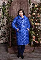 Двубортное пальто для крупных женщин, с 48-82 размер, фото 1