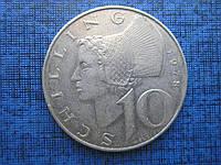 Монета 10 шиллингов Австрия 1978