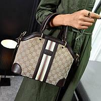 Стильная женская сумка Gucci Lux в коричневом цвете