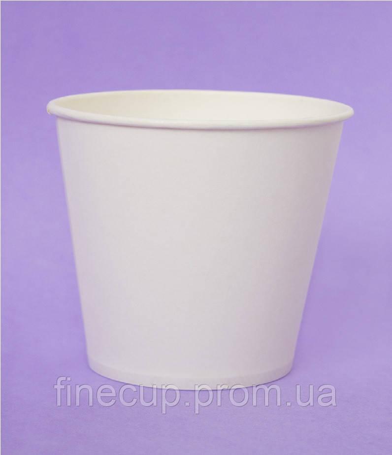 """Паперовий стаканчик/бумажный стаканчик """"білий"""" 110 мл"""