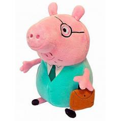 Мягкая игрушка Папа Свин с портфелем 30 см, Peppa 30292