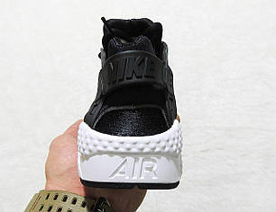 Кроссовки женские Nike Air Huarache 1 Black White топ реплика, фото 2