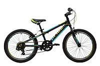 Велосипед 20'' PRIDE JOHNNY черный/голубой/салатовый 2019