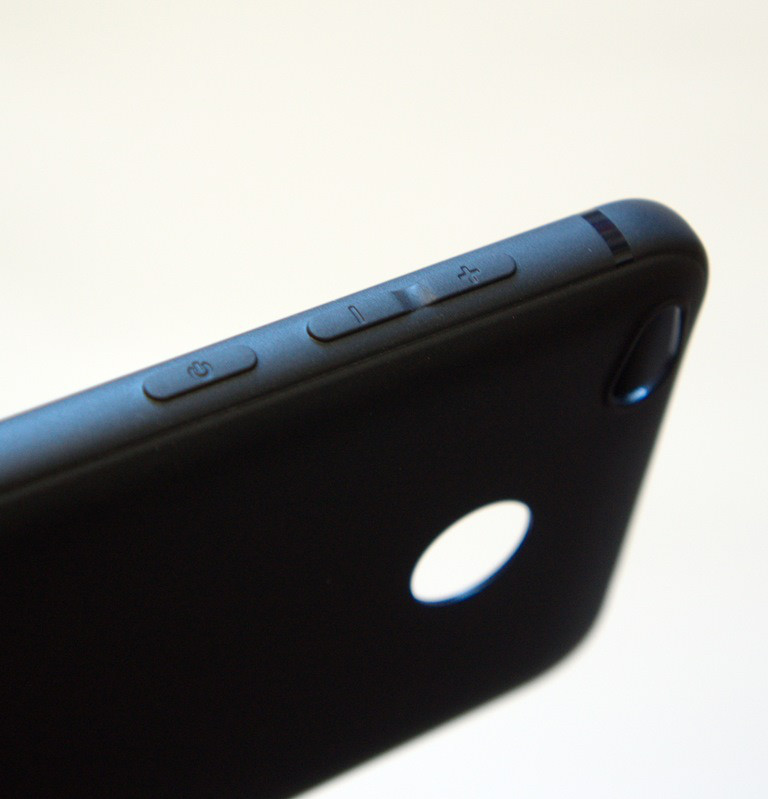 Накладка силиконовая OuCase Xiaomi Redmi 4X чёрная