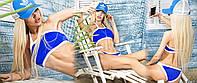 Стильный купальник синий