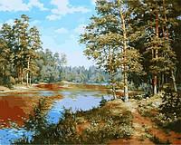 Живопись по номерам Сосновый лес (VP847) 40 х 50 см