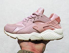 Кроссовки женские Nike Air Huarache Run Pink топ реплика, фото 3