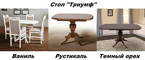 Стіл обідній Тріумф темний горіх (Мікс-Меблі ТМ), фото 2