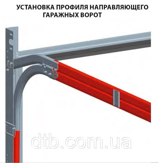 установка направляющей ворот