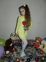 Нарядное платье для девочки с розой
