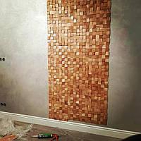 Отделка стен натуральным деревом. Стеновая панель, рейки, планки.