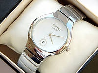 Кварцевые наручные часы Rado Jubile стального цвета, с датой