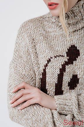 Вязаный зимний женский свитер, фото 2