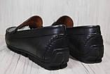 Кожаные стильные мужские мокасины Prime черные (размеры:42,44), фото 4