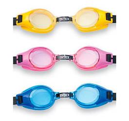 Очки для плавания lntex 55601, 3 цвета, 3-8лет