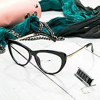 Женские брендовые очки Miu Miu Миу Миу черные с прозрачными стеклами