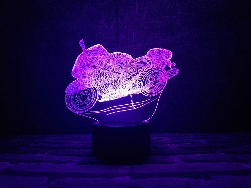 """3D Светильник """"Мотоцикл"""""""