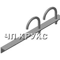 Опора для крепления 2-х труб к металлоконструкциям