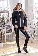 Женская демисезонная черная куртка  В-1111 Тон 21 44 48 50 52 54 56 размер