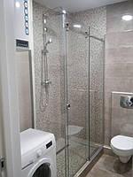 Душевая стеклянная кабина, раздвижная система, фото 1