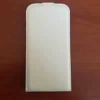 Чехол книжка флип на Samsung S4 I9500 белый на магните