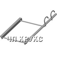 Опора для крепления 2-х труб к железобетонной колонне