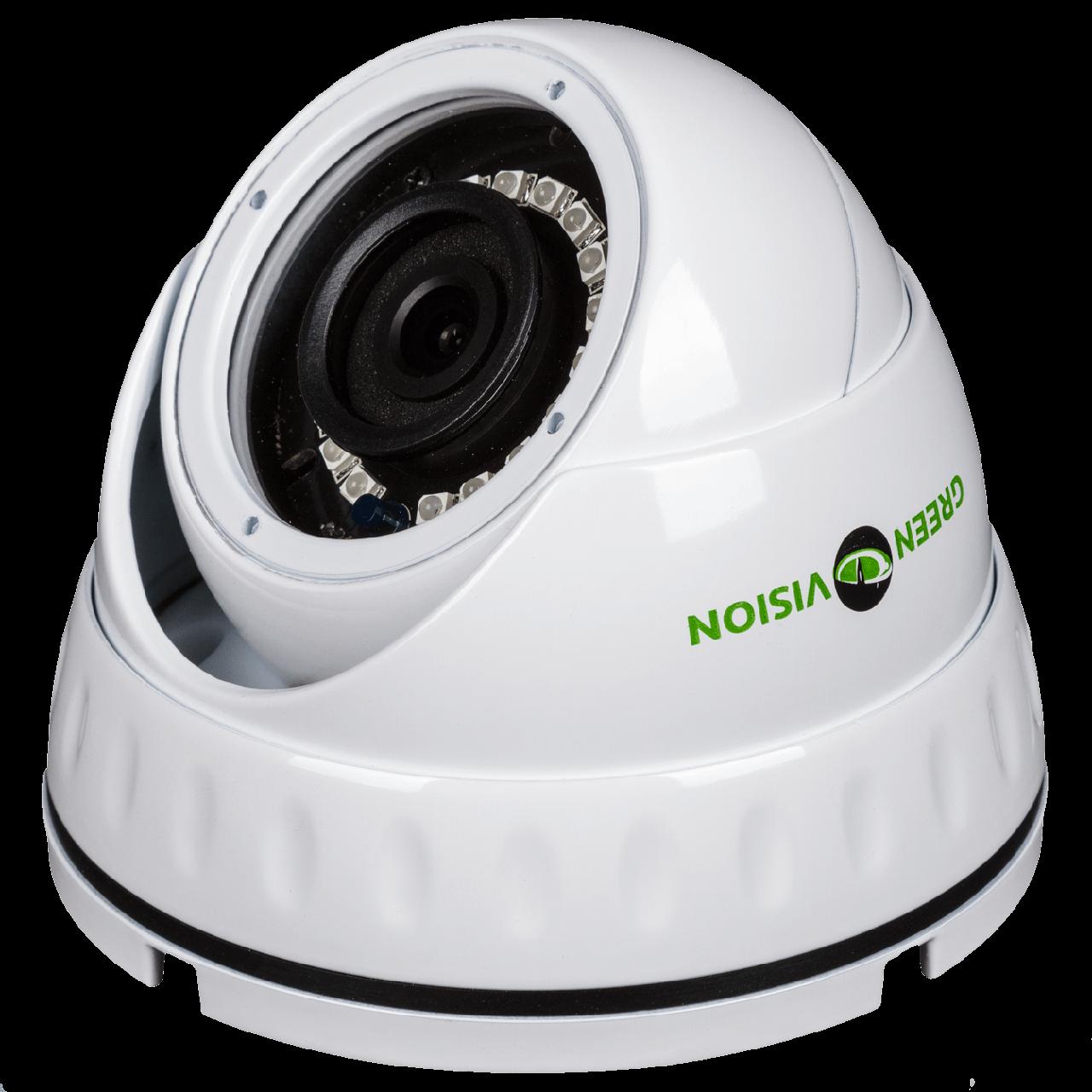 Камера IP антивандальная внутренняя/наружная Green Vision GV-053-IP-G-DOS20-20 POE 1080P