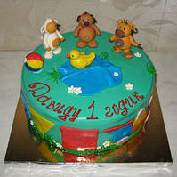Торт на годик Тини лав