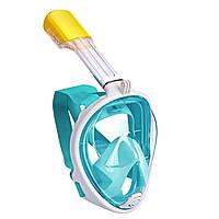 Маска для дайвинга, снорклинга, подводного плавания, на всё лицо S/M, L/XL