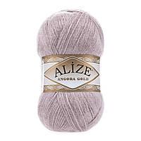 Alize Angora gold  - 163 серая роза