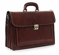 Мужской портфель из натуральной кожи, Италия, коричневого цвета