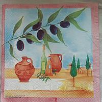 """Салфетка для декупажа """"Оливки"""", 33х33 см, 8, фото 1"""