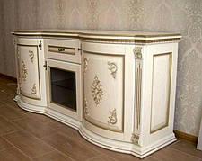 Комод деревянный широкий с резным декором для гостиной  Афродита РКБ-Мебель, цвет на выбор