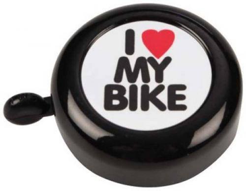 Дзвінок велосипедний Grenn Cycle GCB-1051A-bk I love my bike BEL-88-42