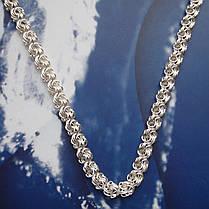 Серебряная цепочка, 500мм, 22 грамм, плетение Роза, фото 3