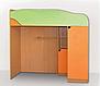 Кровать горка Летро Винни 80см х 200см оранж-фисташка, фото 4