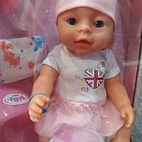 Кукла-пупс BL 011 F-S  интерактивная, реплика, 9 функций, 42 см, плачет, можно купать и кормить, с аксесуарами
