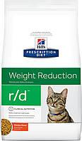 Hill's Prescription Diet r/d Feline-лечебный корм для регулирования избыточного веса у кошек 1,5КГ