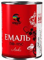 """Эмаль алкидная ПФ-115 люкс """"СПЕКТР"""", зелёная 0,9 кг,"""