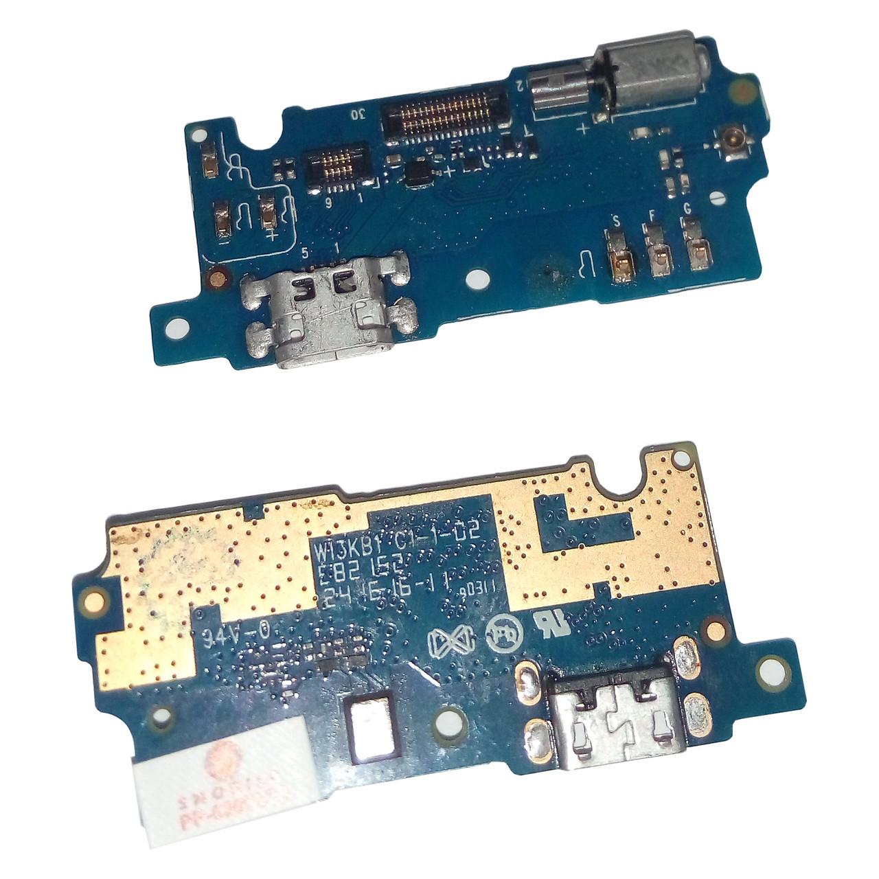 Шлейф разъема зарядки для Meizu M3s, M3s Mini с микрофоном