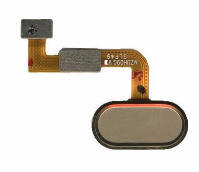Шлейф кнопки меню для Meizu M3x золотистого кольору