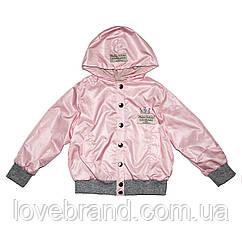 Милая ветровка Fashion Collection Andriana Kids для девочки розового цвета 92 см