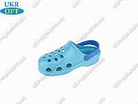 Подростковые сабо (Код: Сабо 2 бирюза-синий )